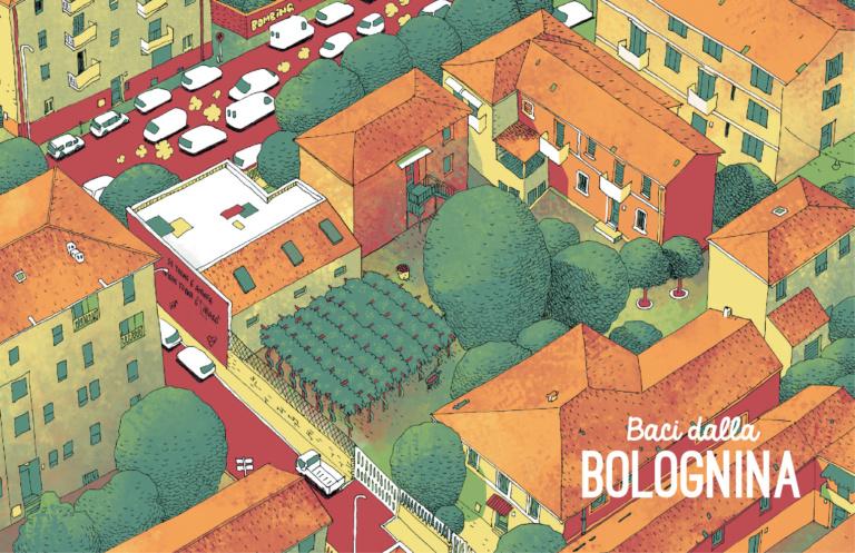 In via Andrea da Faenza c'è una casetta con due filari di vite, un angolo di campagna stretto tra le vie della Bolognina, bellis- simo. Sara. Illustrazione: Vincenzo Bizzarri